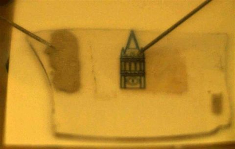 Atomically thin light emitting device opens the possibility for 'invisible' displays